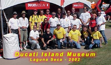 Some of the attendees and participants at the Ducati Museum