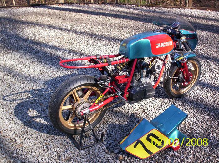 bevel heaven - ducati 900 ss bott racebike for sale